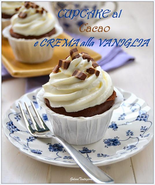 cupcake al cacao e crema alla vaniglia