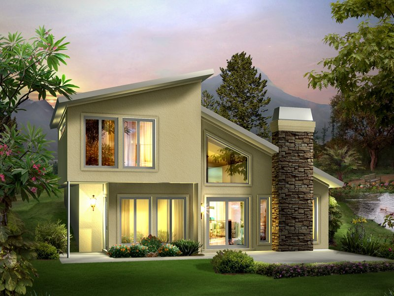 30 beautiful 2 storey house photos for Small 2 story cottage plans