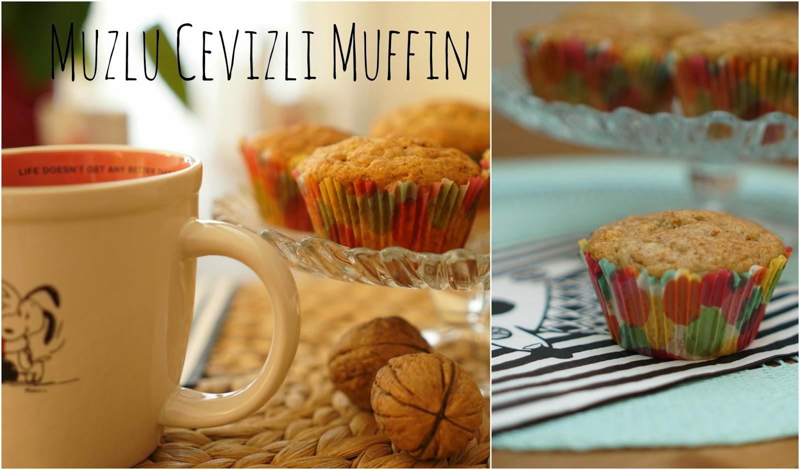 muzlu cevızlı muffın sağlıklı muffin tarifi banana walnut muffin recipe