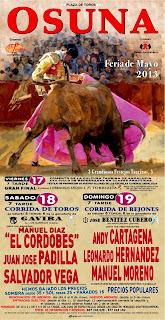 Feria de Osuna 2013 - Cartel Taurino