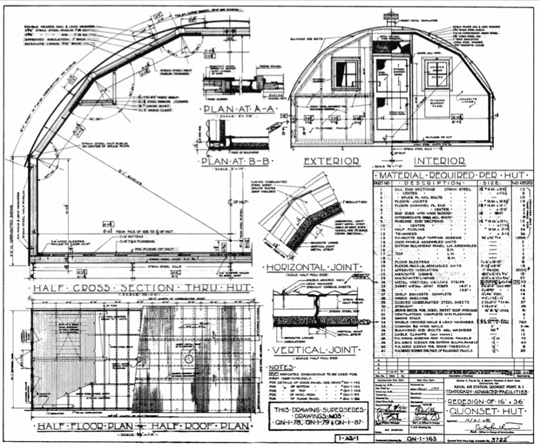Quonset hut blueprints joy studio design gallery best for A frame hut plans