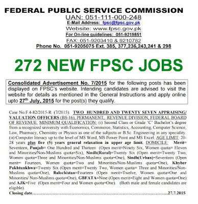 New jobs in FPSC 2015