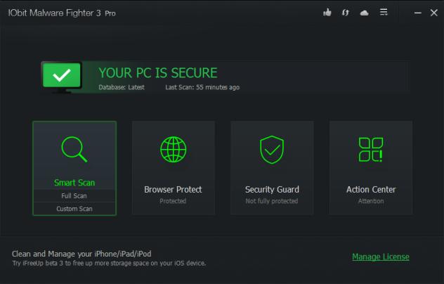 IObit Malware Fighter 3 PRO Full Serial Keys