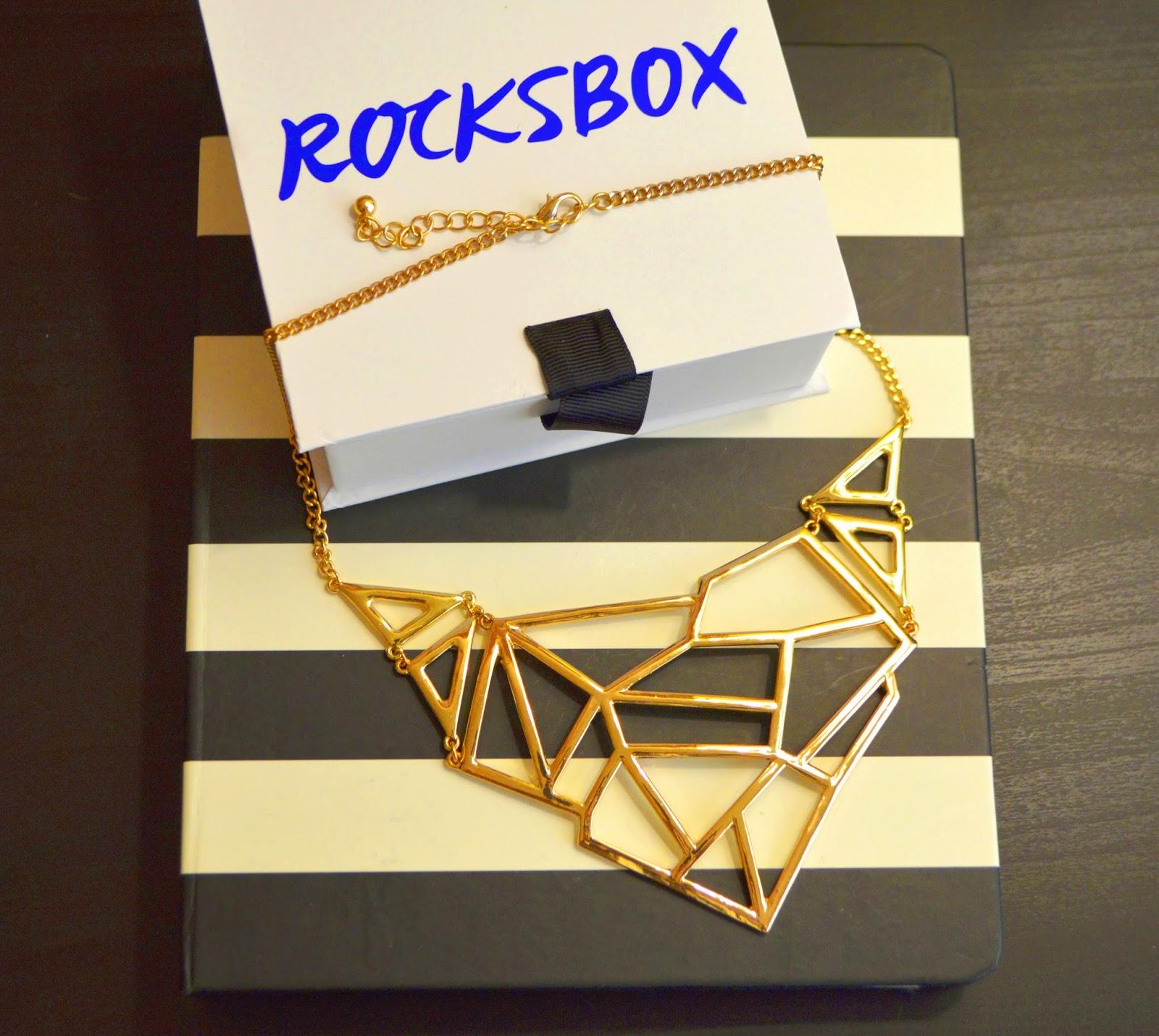 gold, geometric, jewelry, statement necklace, rocksbox