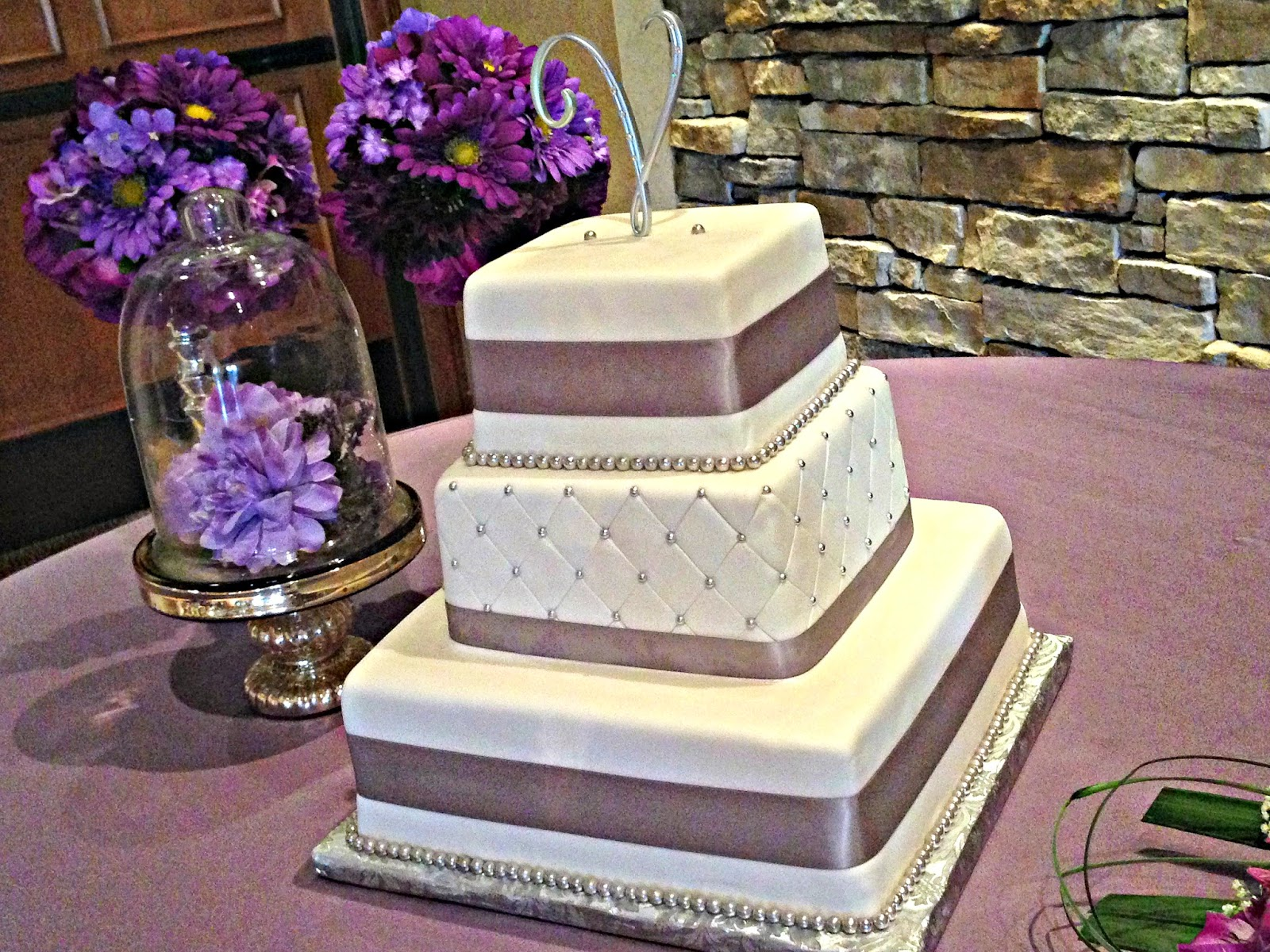 Purple Gray Wedding Decor