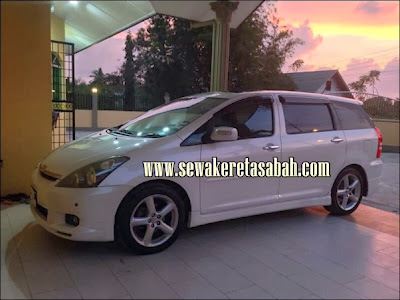 Kereta Sewa Sabah 1 - Toyota Wish 2013