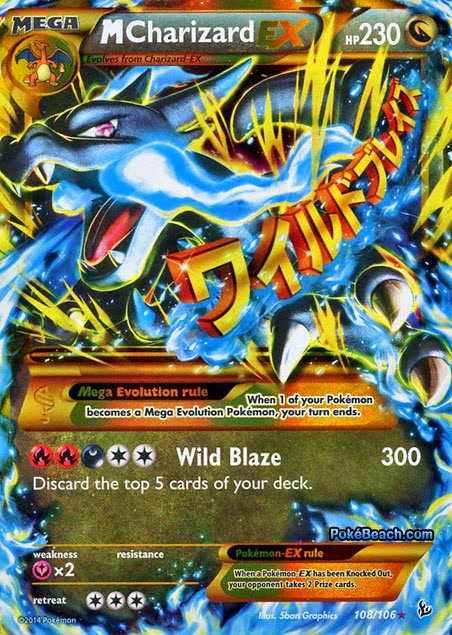 Mega Charizard EX X Flashfire Pokemon Card Review