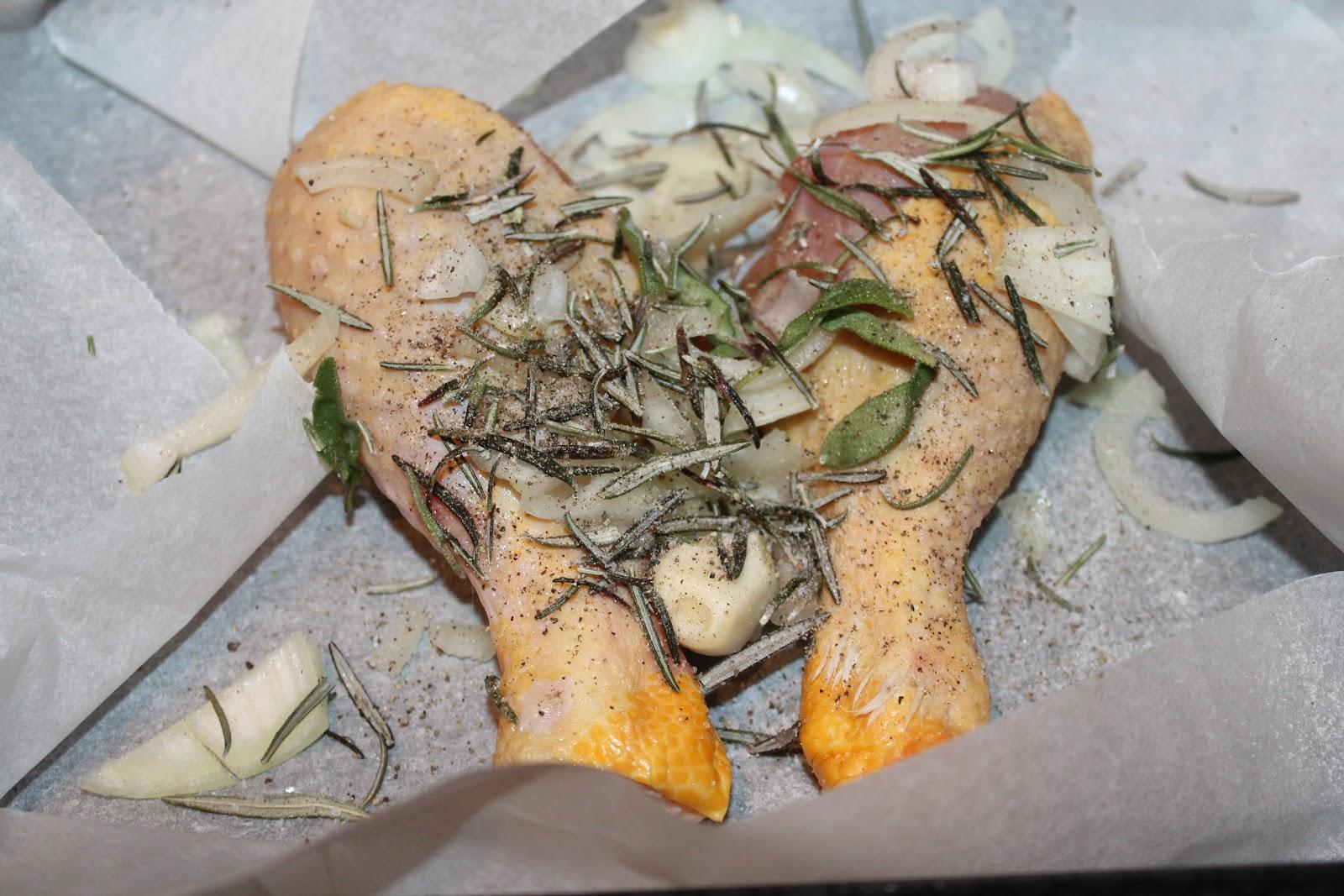 un po' nonna papera....: Cosce di pollo al forno