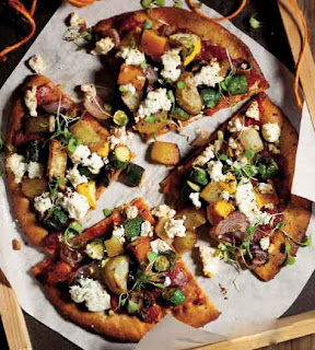 Roast Vegetable and Ricotta Pizza