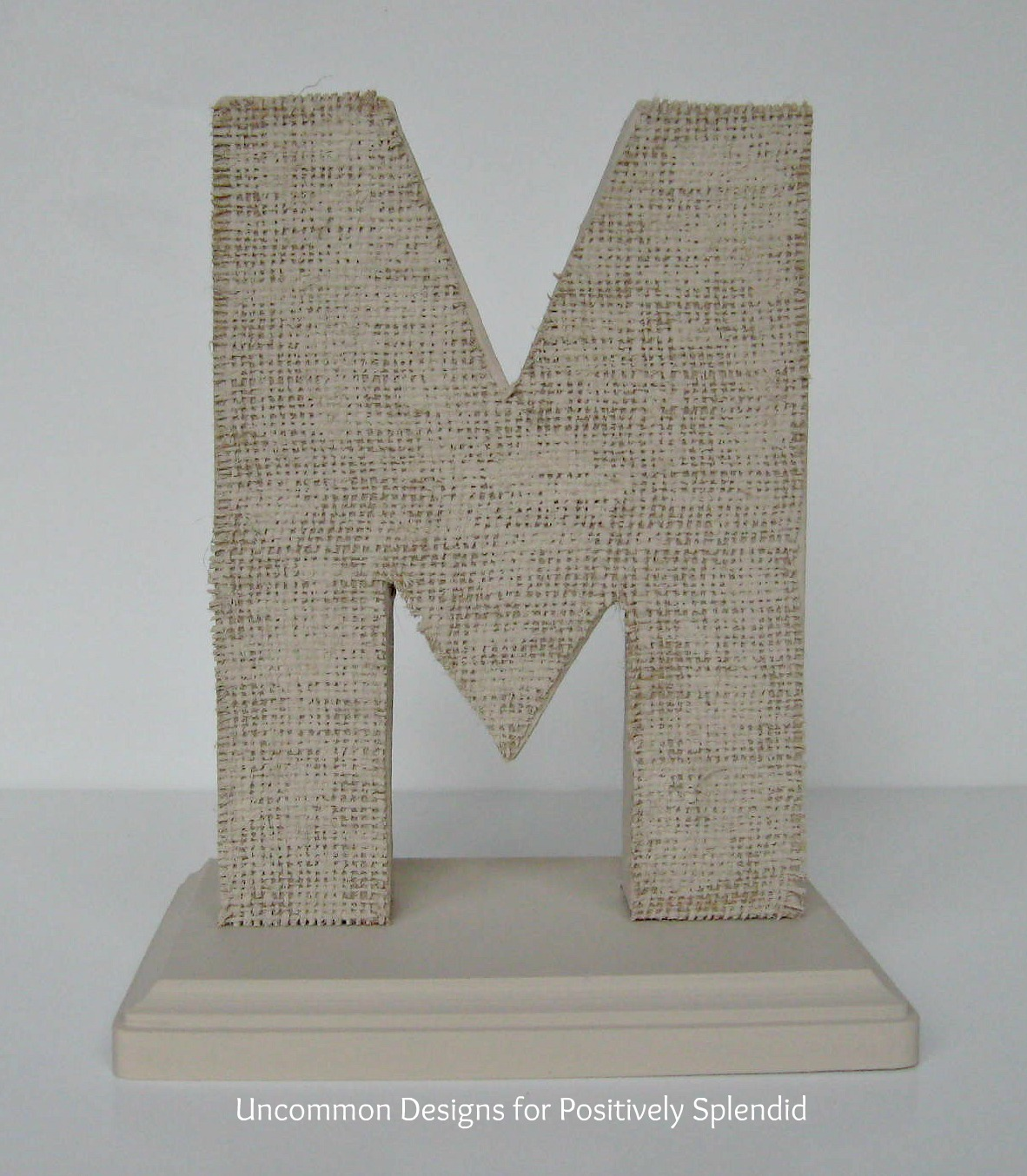 burlap covered letters positively splendid crafts