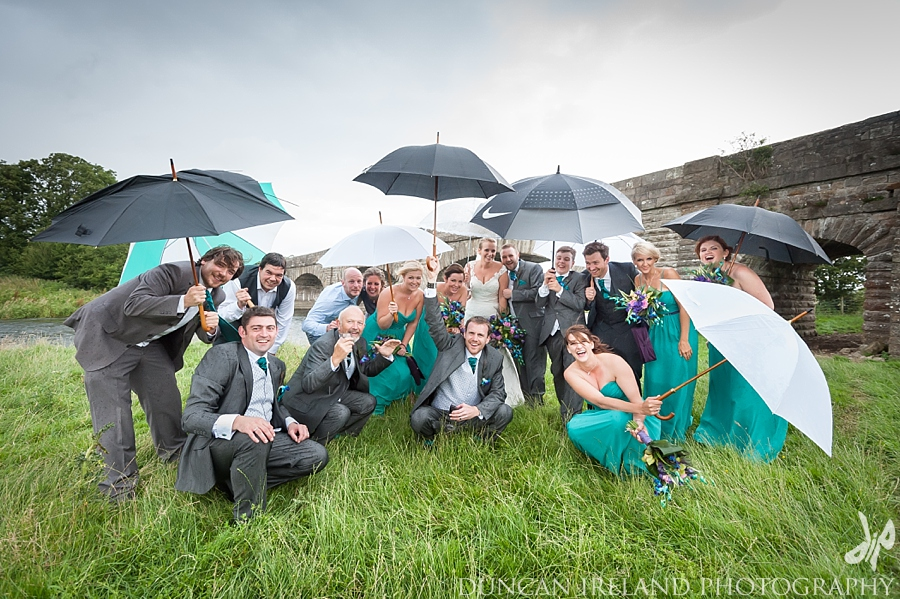 Rainy wedding photography Lake District