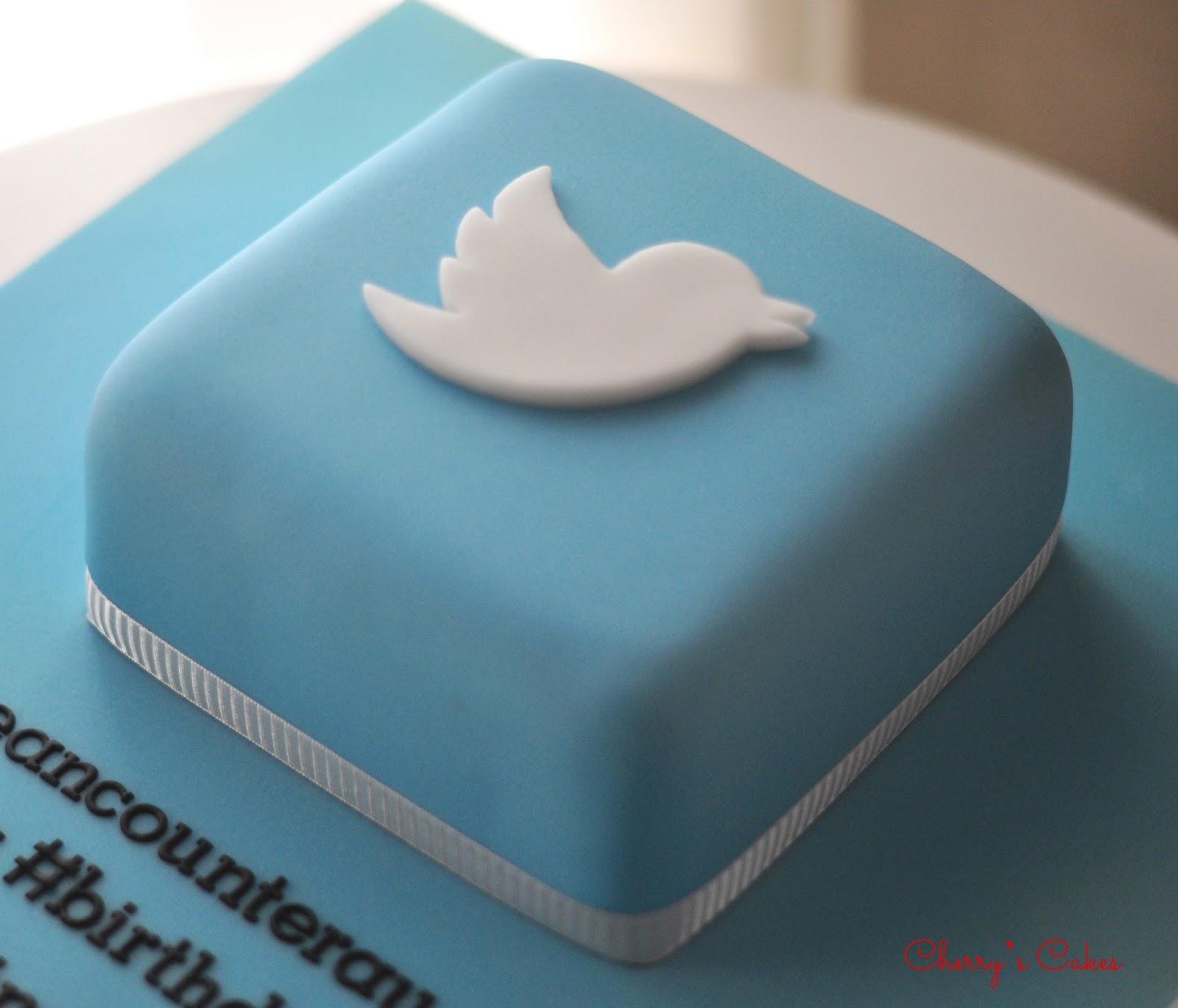 Twitter Cakes Cherrys cakes : twitter cake