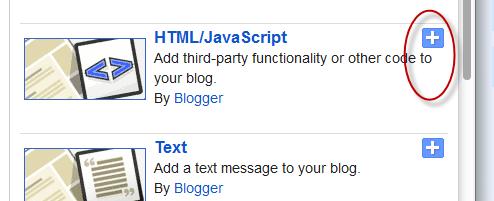 html javascript blogger gadgets widgets