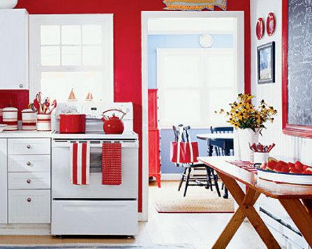 Cocinas blancas o de colores dos en la pasarela - Cocinas rojas y blancas ...