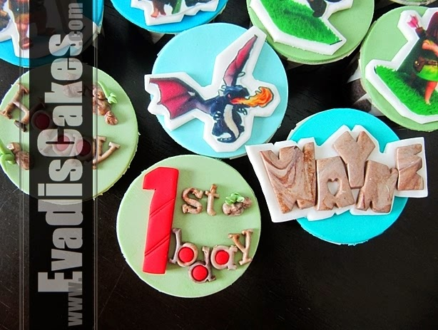 Top view picture of Clash Of Clan cupcakes