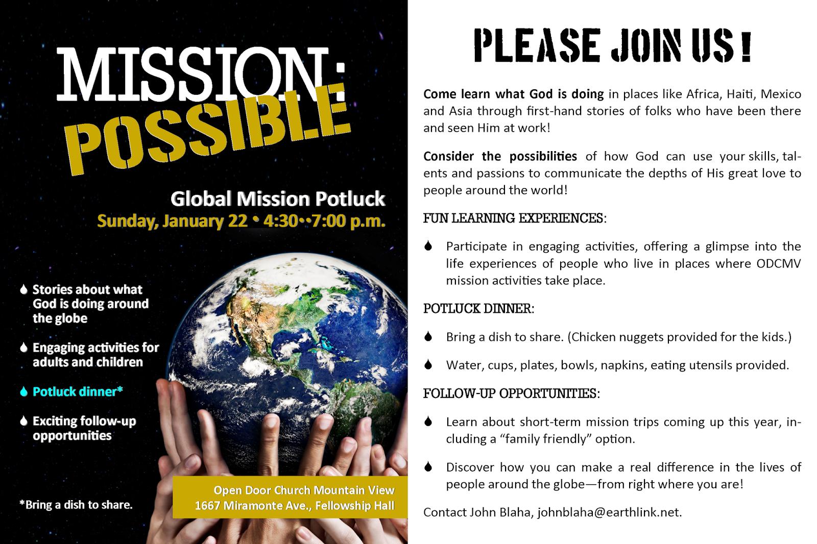 Lovejoy Graphics: Global Mission Potluck