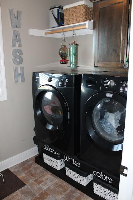 Jane's Girl Designs: A Pinterest Inspired Laundry Room