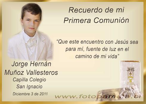 SANTITO PRIMERA COMUNION CON FOTO