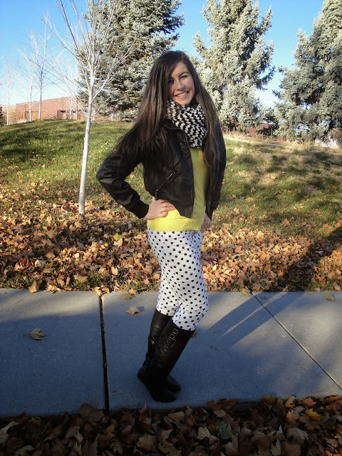 cute, jcrew, polka dot, polka dot jeans, windsor store, windsor style, yellow sweater,