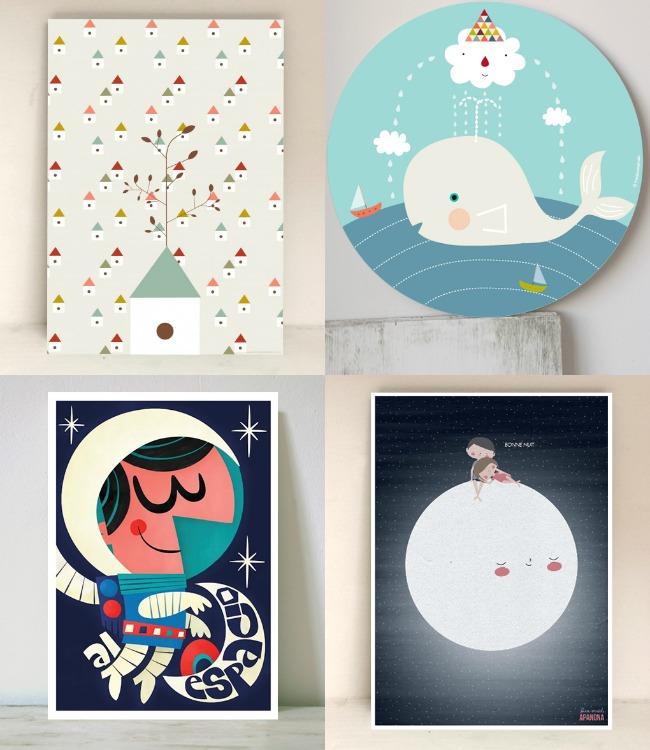 Mcompany style 7 webs de l minas infantiles para decorar for Laminas cuadros estilo nordico
