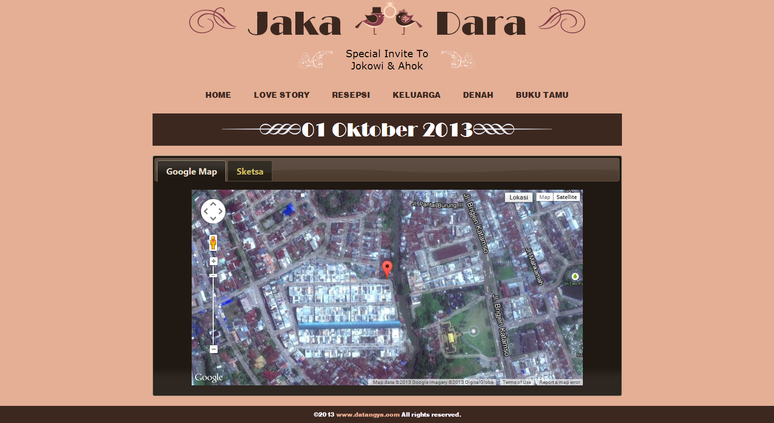 Desain undangan online Luxury - Datangya