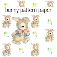 free digital vintage bunny scrapbooking paper ausdruckbares geschenkpapier freebie. Black Bedroom Furniture Sets. Home Design Ideas