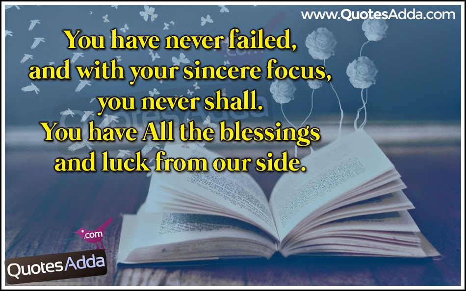 good luck quotes for exams telugu