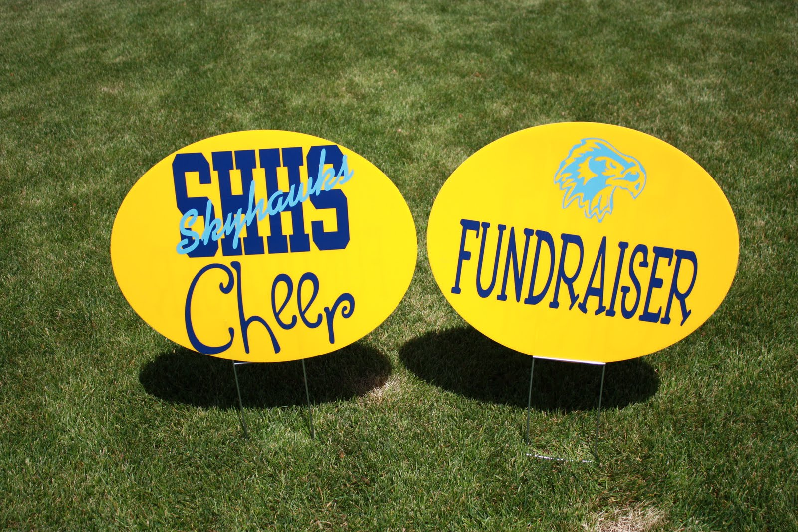 cheer fundraising signs