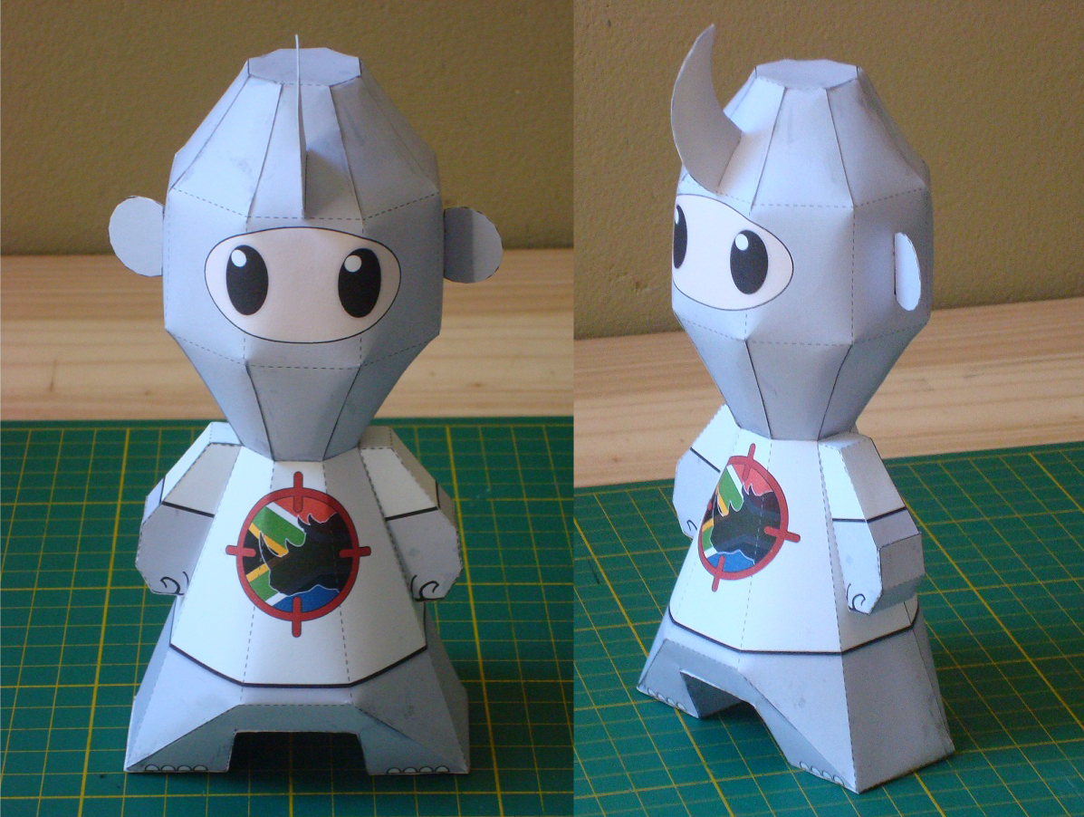 Genetically Altered Anti-Poaching Paper Toy Mascot