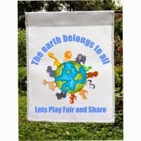 share the earth garden flag