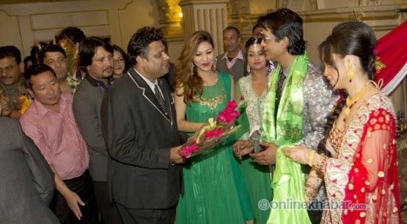 deepak raj giri, astha b, nirmal, rajesh hamal and madhu bhattarai wedding