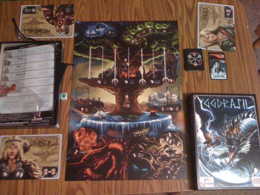Yggdrasil cooperative board game in play