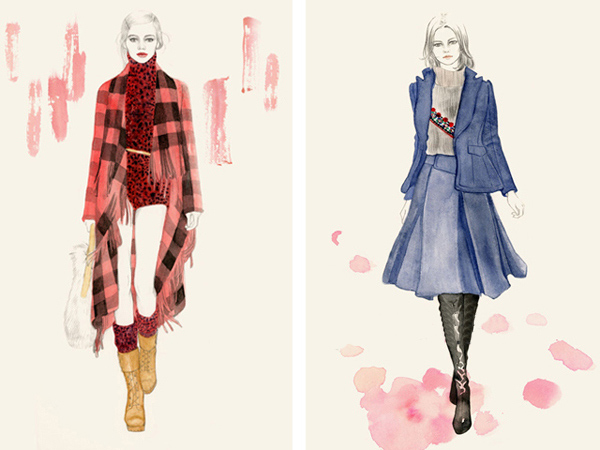 illustrations en couleurs de mode de Artiste Teri Chung