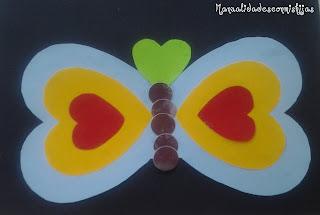 para nios un poco ms mayores tambin podemos hacer una tarjeta de mariposas de corazones esta manualidad es nuestra pero como hace dos aos que la