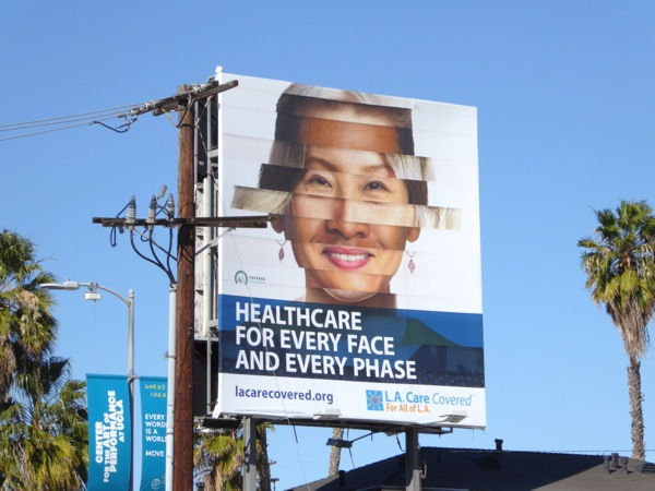 Healthcare every face every phase billboard