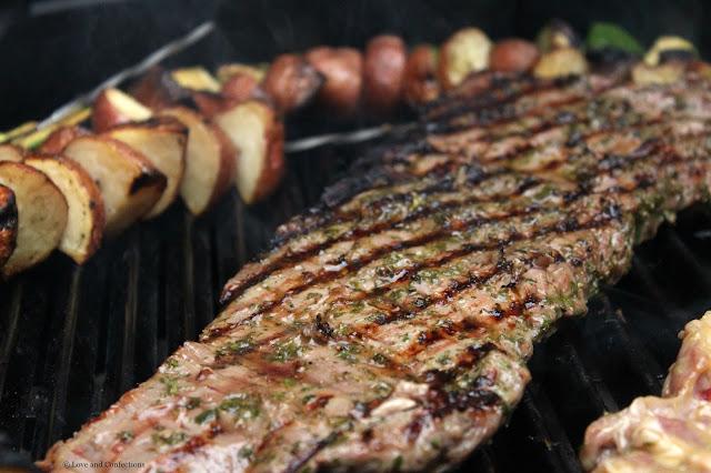 Chimichurri Steak Crostini from LoveandConfections.com