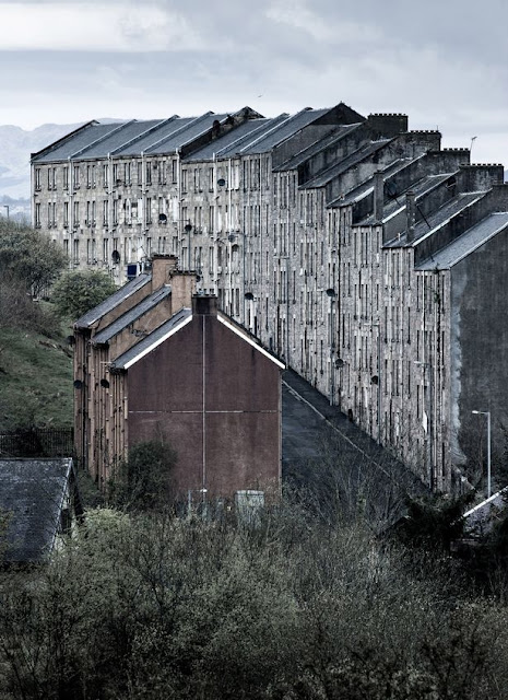 Tenement Buildings at Port Glasgow, Inverclyde