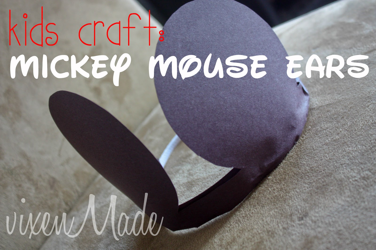 vixenmade kids craft mickey mouse ears