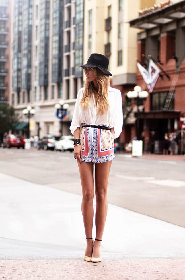 Bowie Print Shorts