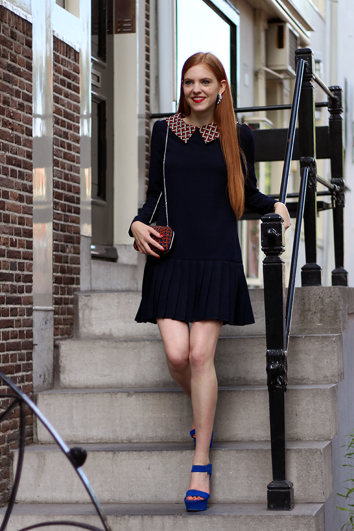 Outfit fashion blogger graduation Yara Michels dress clutch beads zara amsterdam