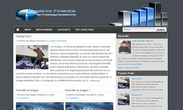 MagzEvo-Finance Blogger Template