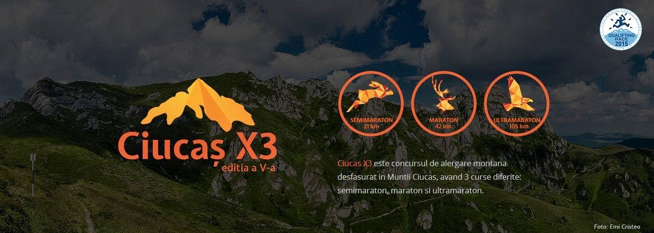 Invitaţie la Ciucaş X3, concurs de alergare montană. Ultramaraton 105 km, Maraton 42 km şi Semimaraton 21 km. Promo