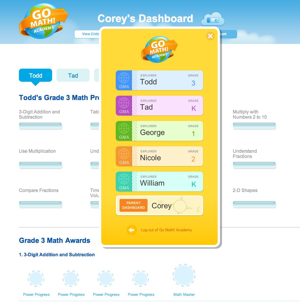 Go Math! Academy profiles