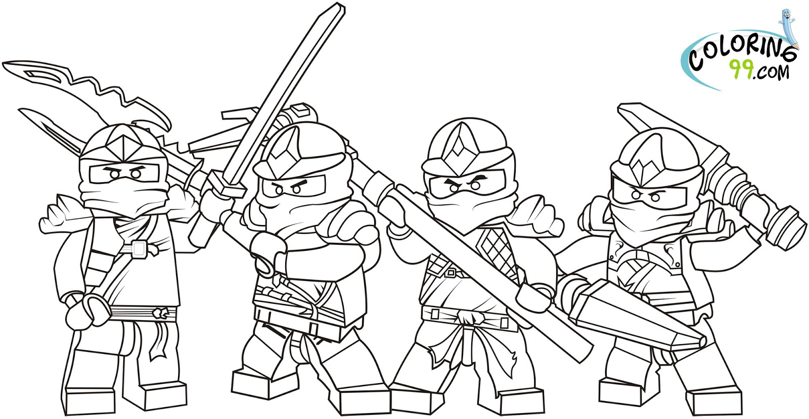 Lego Ninjago Coloring Pages Free Printable Pictures The Lego Coloring Pages