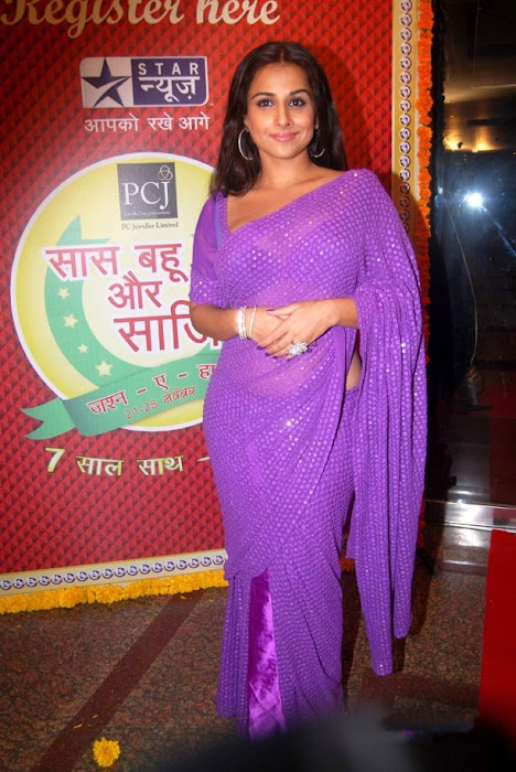 vidya balan in transparent sareeat star plus saas bahu saasish  actress pics