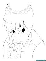 Mewarnai Rock Lee Ninja Desa Konoha