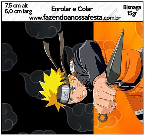 Etiquetas de Naruto para imprimir gratis.