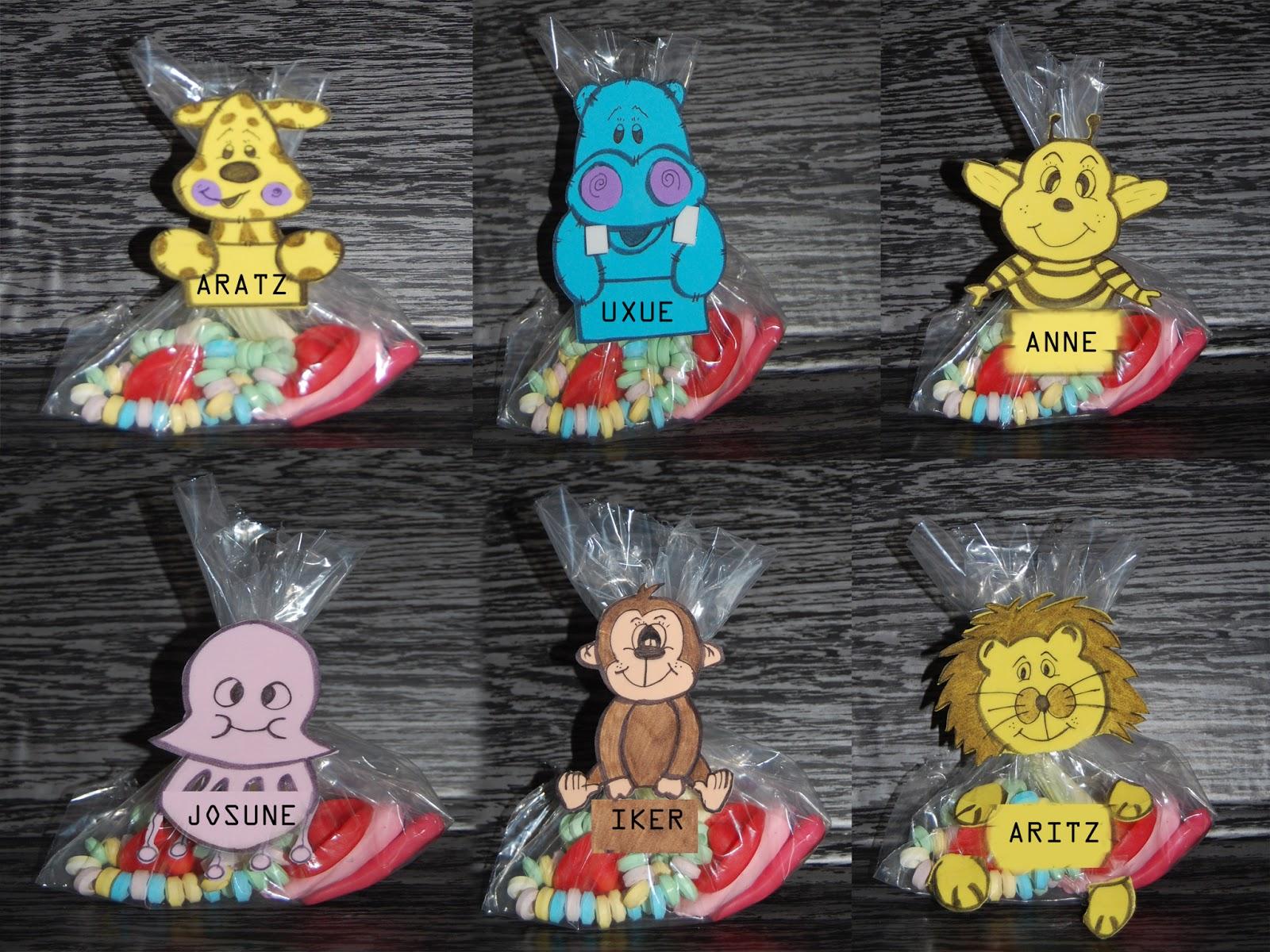 Manualidades con ilusion bolsas gominolas - Manualidades con gominolas ...