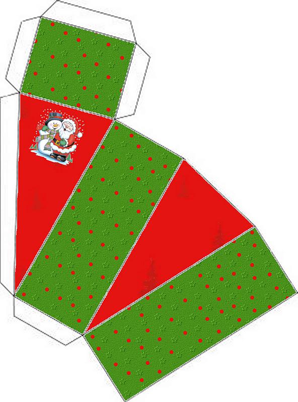 Santa And Snowman Free Printable Boxes Oh My Fiesta