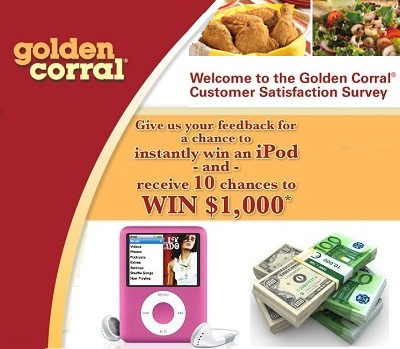 Golden Corral Listens your Feedback in Survey: Win $1,000 everyday